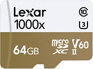 Lexar Professional 1000x 64GB microSDXC UHS-II Card (LSDMI64GCBNA1000A)