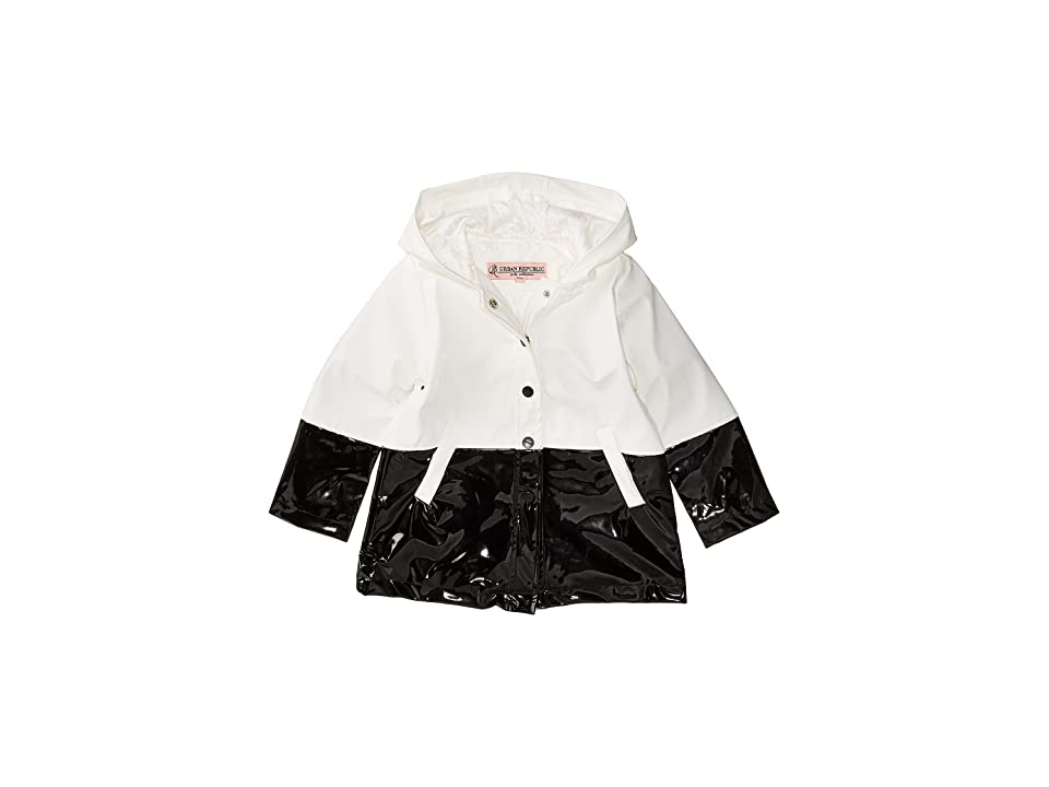 Urban Republic Kids Raincoat Color Block Jacket (Infant/Toddler) (White) Girl