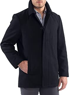Vance Mens Wool Blend Button Up Coat