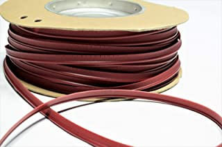Dark Red Vinyl Welt Cord Piping Marine Auto Fabric Boat Upholstery 10 Yards