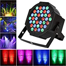 TENKOO LED Par Stage Light, 36 LEDs RGB Sound Activated Party Lights 512 DMX 7 Lighting Color Disco Lights for DJ Club Party Bar Karaoke Wedding Show Live Concert Lighting.(no remote control)