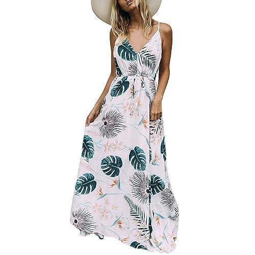 UK Women Ladies Floral Sleeveless Summer Beach Holiday Long Maxi Dress