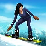 スノーボード冬のダウンヒルマウンテンスポーツ:冷たい雪のレース - 無料版