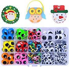 Sponsored Ad - 512pcs 6mm-20mm Wiggle Eyes Self-Adhesive for Craft Stickers, Black and Colorful Googly Eyes for DIY Scrapb...