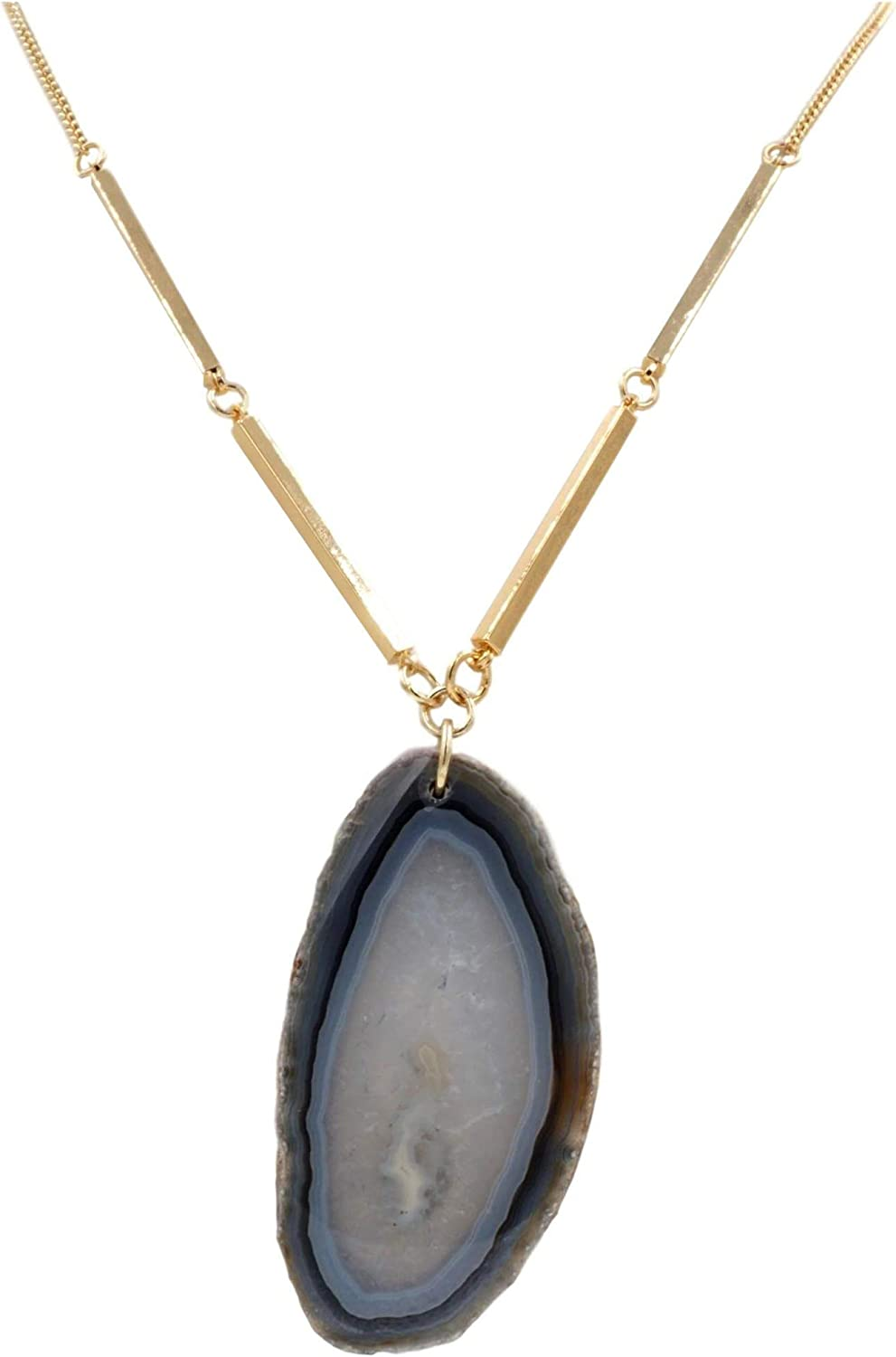 Kinsley Armelle Agate Collection - Slate Necklace