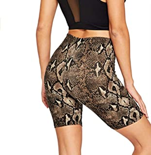 Get-in Fashion Women's Summer High Waist Shorts Fitness Pants Print Shorts Casual Basic Pants Outfits 4 Colors