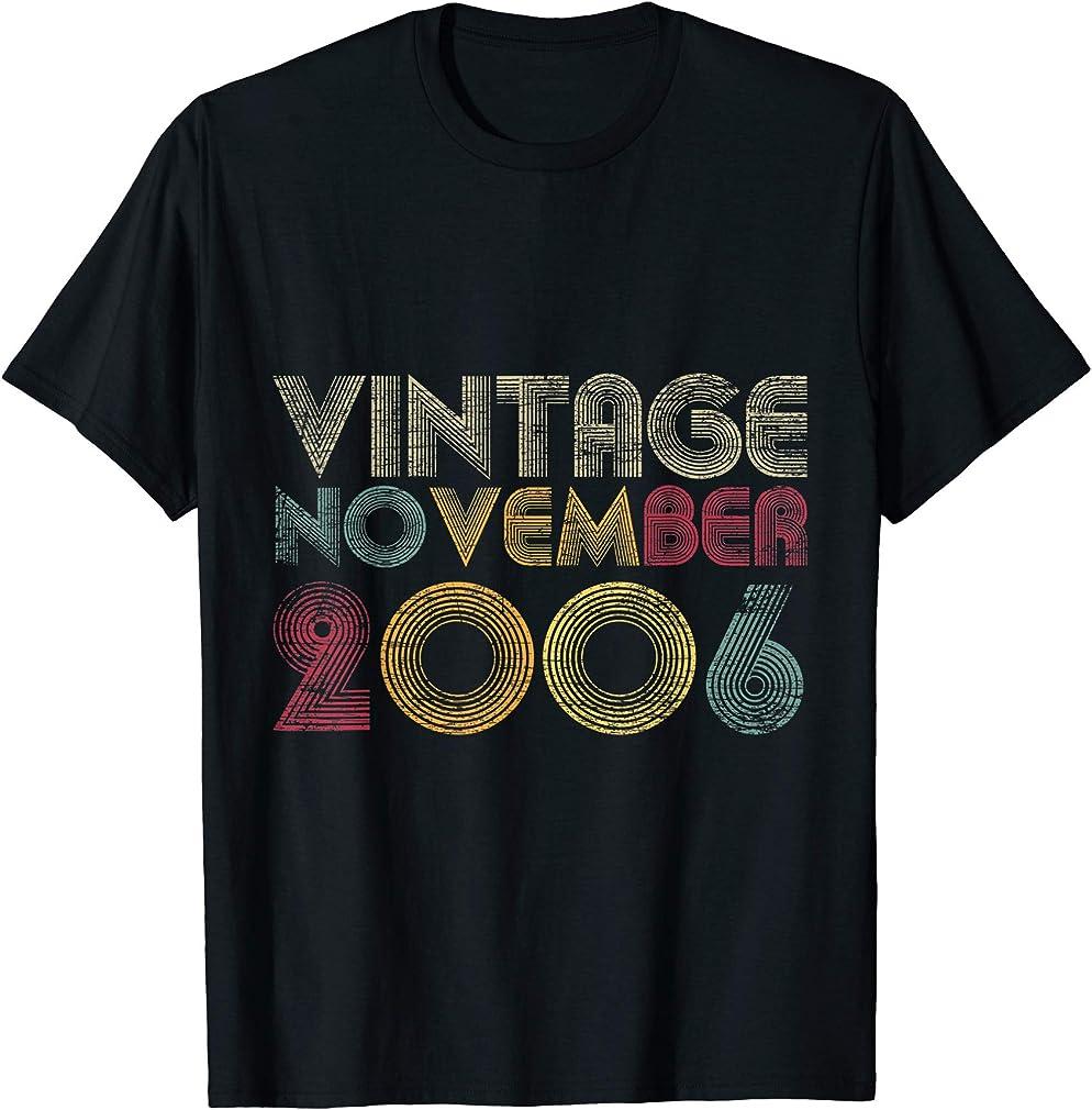 14th Birthday Gifts - Vintage November 2006 T-shirt