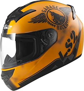 LS2 103523251M FF352 Casco Rookie Fan, Color Naranja Mate, Tamaño M