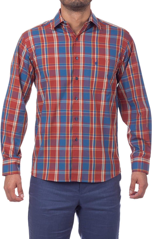 Manchester Men's Dress Shirt Regular Sleeve Long Sale unisex SALE% OFF Fit