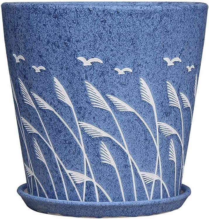 BUNCC Blue European Style Flower Large Medium Ceramics Daily Ranking TOP4 bargain sale Extra Pot