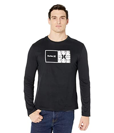Hurley Natural HD Long Sleeve Graphic T-Shirt (Black) Men