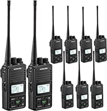 Two Way Radio,SAMCOM FPCN10A Walkie Talkie 20 Channels Wireless Intercom Portable Bussiness Radio with Group Button,UHF 400-470MHz, 2 Watt Radio(Pack of 9)??