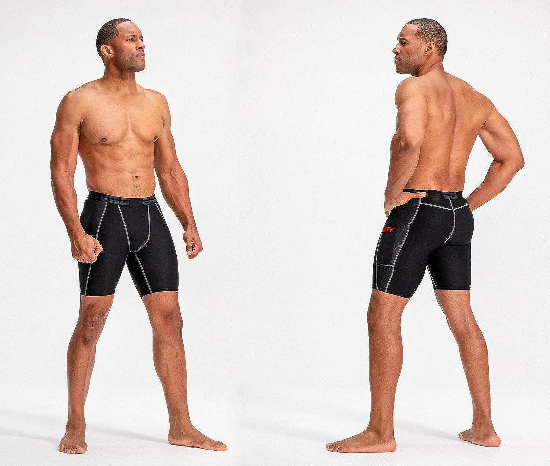 3 Pack DEVOPS Mens Compression Shorts Underwear with Pocket