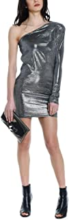 ACTUALEE Women's 003632206SILVER Silver Polyester Dress