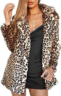 Women Warm Long Sleeve Parka Faux Fur Coat Overcoat...