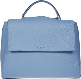 Luxury Fashion   Orciani Womens BT1979ORTENSIA Light Blue Handbag   Spring Summer 20