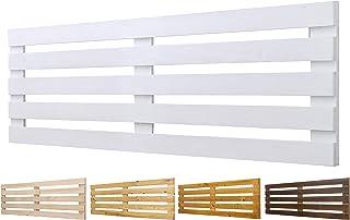 Cabecero de Madera Maciza Mod. Venecia para Camas de 80cm, 90cm, 110cm, 135cm, 150cm. Herrajes incluidosCIA (160cm X 60cm, Blanco)