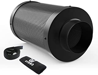 G-HYDRO 4 Inch Air Carbon Filter with Australia Virgin Activated Charcoal Prefilter Included Odor Control Scrubber for Gro...