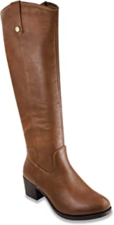 Women's Riding Boots Heeled Knee High Boot with Tall Shaft
