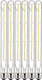 Sunlite 41070 LED T8 Filament Light Bulb 5-Watt (40W Equivalent), Dimmable, Tube Lightbulb, 6 Pack, 22K - Warm White