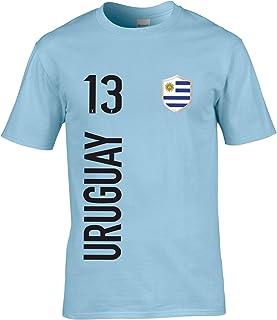 FanShirts4u Herren Fan-Shirt Jersey Trikot - Uruguay - T-Shirt inkl. Druck Wunschname & Nummer WM
