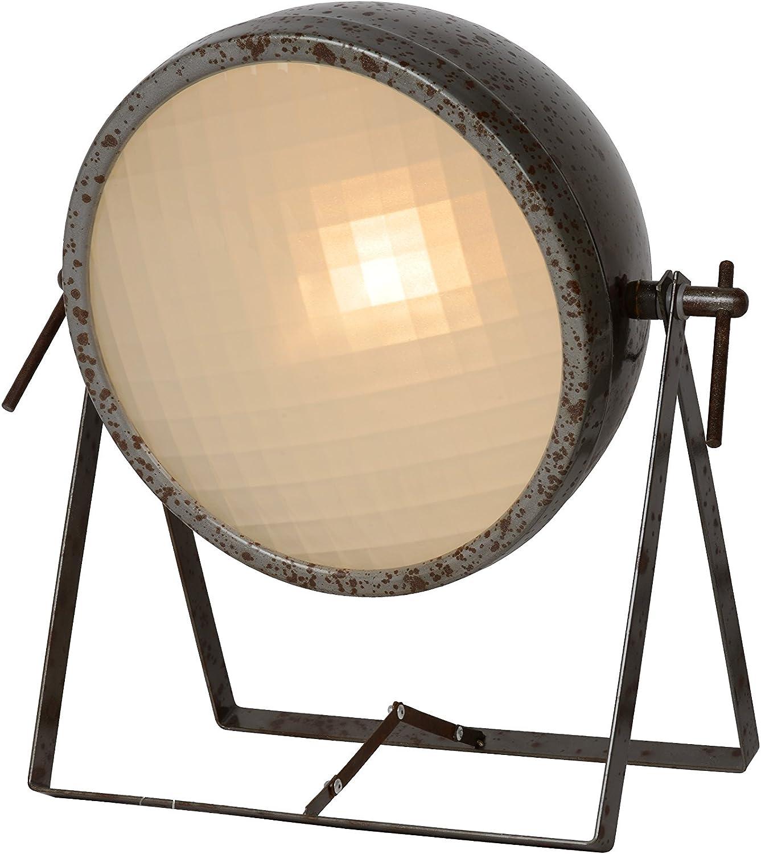 Lucide Mopedd - Tischlampe, Metall, E14, 40 W, rust braun, 30 x 34 x 33 cm