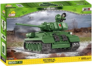 Cobi Small Army #2476A ミリタリーブロック WWII ソビエト軍 T-34/85 中戦車 T-34/85 (New Version)【COBI日本正規総代理店】