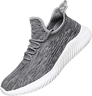 WsDebutting Men's Sneakers Fashion Lightweight Running Shoes Lace-up Casual Shoes for Walk