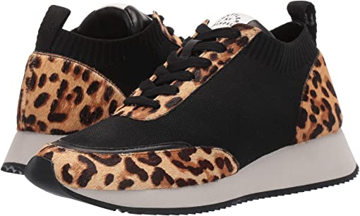 Black Knit/Light Leopard