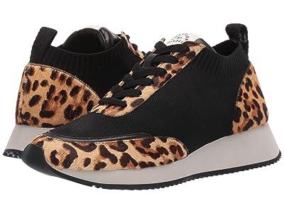Loeffler Randall Remi Lace-Up Sneaker (Black Knit/Light Leopard) Women