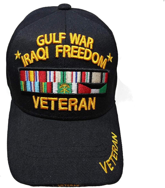 US Military Gulf War Iraqi Freedom Veteran Black Officially Licensed Cap