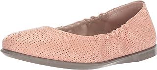 حذاء باليه مسطح للسيدات من ECCO مطبوع عليه Incise Enchant بدون رباط من المطلي، مقاس 39 M أوروبي (8-8. 5 أمريكي)