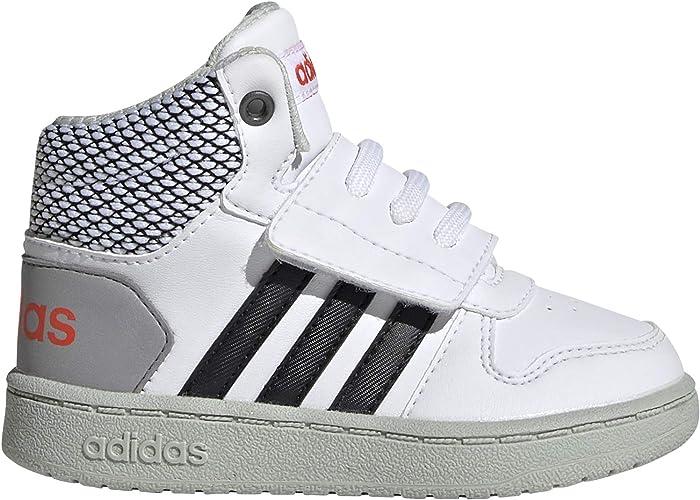 adidas Shoes Kids Sneakers Fashion School Sports Hoops MID 2 Infants Boys (23.5 EU - UK 6.5K - US 7K)