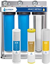 Express Water Heavy Metal Whole House Water Filter – 3 Stage Whole House Water Filtration System – Sediment, KDF, Carbon F...