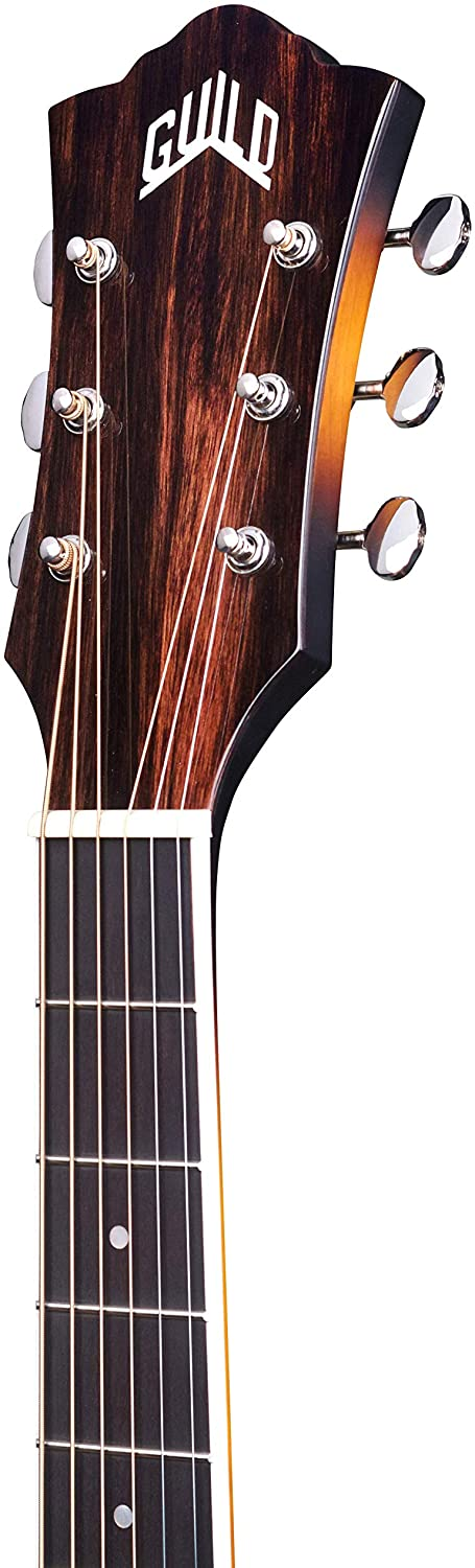 Guild Guitars F-250CE Deluxe Maple ATB Acoustic Guitar Antique Burst Jumbo Archback Deluxe Solid Top Westerly Collection
