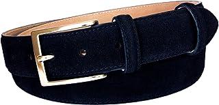 ESPERANTO Cintura in pelle Scamosciata con fodera in Pelle bovina Naturale - altezza 3,5 cm
