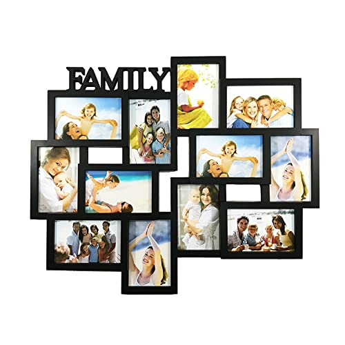 2d3a68b32ba BestBuy Frames FAMILY Title Collage Picture Frame with 12 Openings for  4-Inch-by