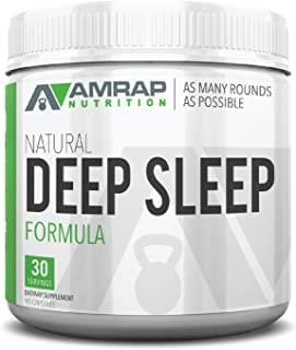 AMRAP Nutrition - Natural Deep Sleep Formula - Post-Workout Recovery Aid Promotes Deep Sleep and Proper Muscle Function - Supports Natural Anabolic Levels - with 72 Essential Trace Minerals