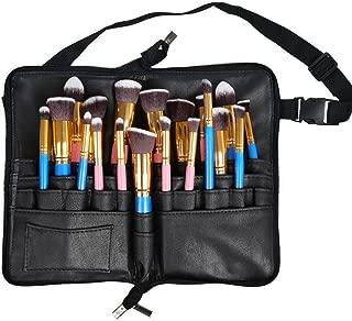 MONSTINA Makeup Bag/Cosmetic Bag/Organizer Brushes Holder/Cosmetics Brushes Leather Case (MBN1)