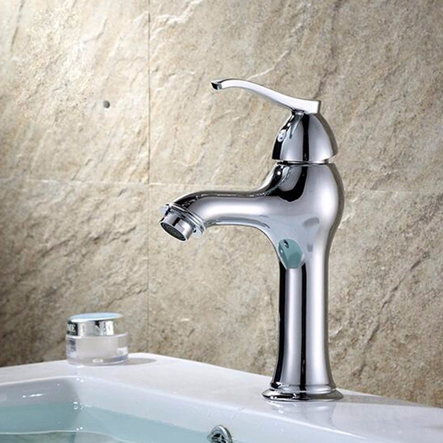 LHbox Basin Mixer Tap Bathroom Sink Faucet Hot and cold single hole basin mixer basin mixer basin faucet zinc alloy redary Mixer