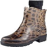 Wealsex Women Fashion Chlesea Wellies Ankle Rubber Wellington Boots Waterproof Winter Short Rain Boots Non-Slip