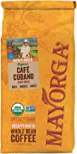 Mayorga Organics Swiss Water Decaf Cafe Cubano Dark Roast, 2 Pound, Whole Bean Coffee, Direct Trade, 100% USDA Organic Certified, Non-GMO, Kosher