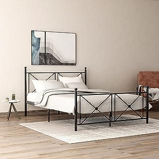 Itopfoxeu Cadre de lit en métal de qualité supérieure avec tête et pied de lit pour chambre d'enfant, adolescent et adulte...
