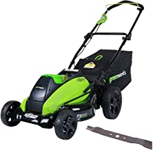 GreenWorks 19-Inch 40V Cordless Lawn Mower with Extra Blade, Battery & Charger Not Included 2501302 (Renewed)