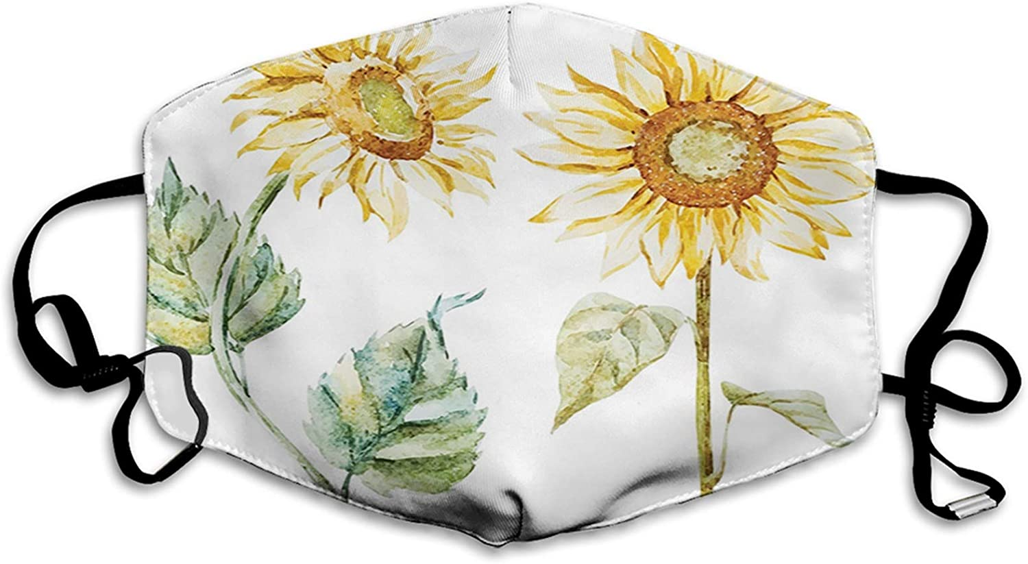 Mens New arrival Womens Mouth Scraf Face Watercolor Sum Alluring Factory outlet Sunflowers