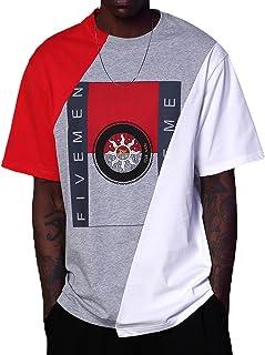 Novelty Color Patchwork T Shirt - Oversize Loose Comfort...