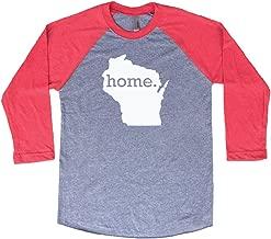 Homeland Tees Wisconsin Home 3/4 Length Baseball Style Raglan T-Shirt