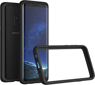 RhinoShield Bumper Case for Galaxy S9 [NOT Plus] | [CrashGuard] | Shock Absorbent Slim Design Protective Cover - Compatible w/Wireless Charging [3.5M / 11ft Drop Protection] - Black