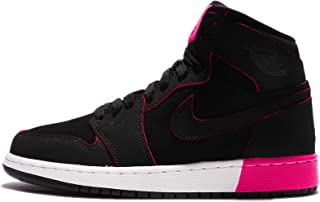 competitive price 409b8 ac0fb Jordan Retro 1 High Black Black-Hyper Pink-White (Big Kid)