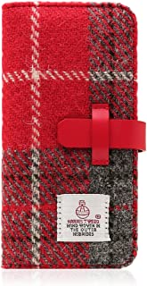SLG Design Harris Tweed Diary Red Gray for iPhone 6s Plus/6 Plus